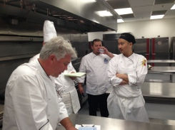Chef Vaughn laying down the judging rules.