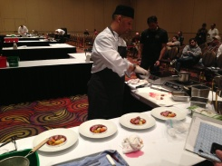Final minutes before plates go to judges.